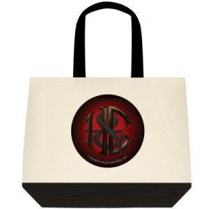Heaven and Earth Classic Cotton Tote Bag with red and black H&E Logo