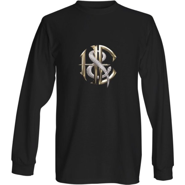 Men's Black Long Sleeved Rock Shirt with Heaven and Earth Logo