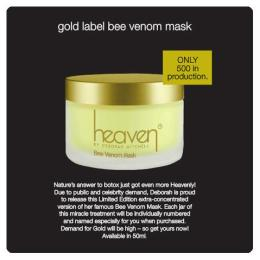 gold bee venom only 500 in production