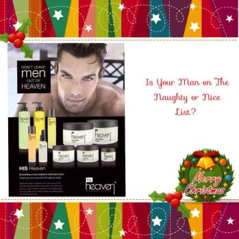 Choose as many products from our Mens range to make your gifts more personal, and we will send the boxes and ribbon ! http://www.heavenskincare.com/Index.aspx