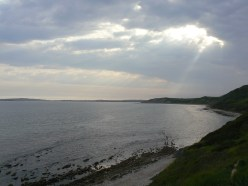 sunset at Chesil Beach