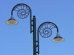 Perfect Zentangle material! The shape of the street lights in Lyme Regis reflects the ammonites found nearby on the Jurassic coast