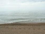 Footprints on Chesil Beach