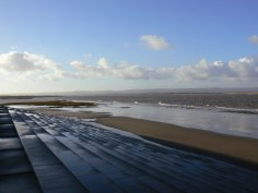 New Year's Day on Burnham Beach in Somerset