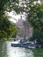Lake in barcelona