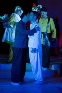 Judas kisses Jesus