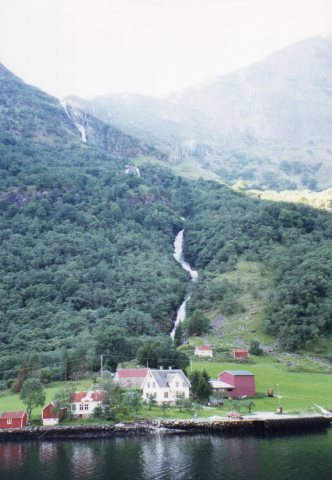 Village along the Sognefjord