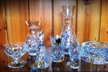 Glass from Welsh Crystal factory