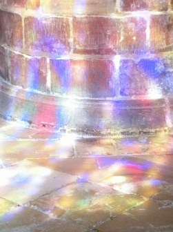 stained glass window reflected2