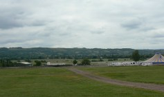 Cleeve Hill behind Racecourse