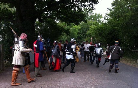 medieval soldiers leaving the battle field 4
