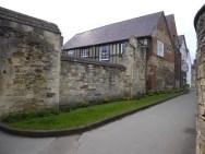 medieval walkway behind Gloucester Cathedral