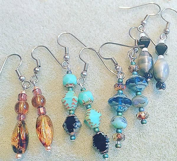 Fun handmade earrings