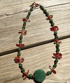 Green jade choker