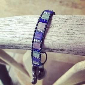 Loom bracelet tila beads