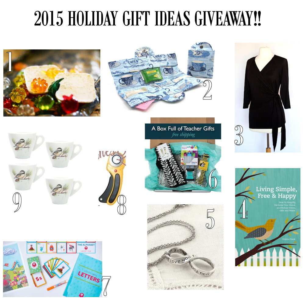2015 Holiday Gift Ideas Giveaway Banner