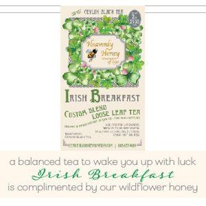 Organic irish tea heavenly honey