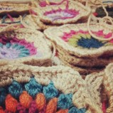 Piles of granny squares!