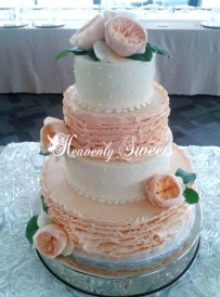 Ruffles and dotted swiss Heavenly Sweets Wedding Cake