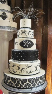 Demask and Quilting Black and White Cake