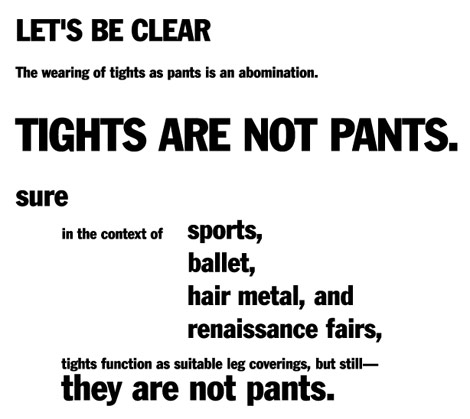 Tights are not pants