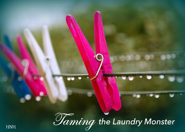 Housework is part of how we love and serve our families, but it can feel disastrously overwhelming at times. Use this strategy to tame the laundry monster.