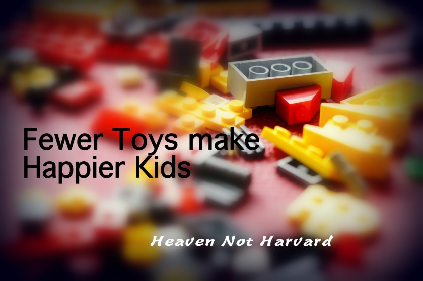 With ads, and discounts galore, I find it hard not to get caught up in shopping this time of year, but . . . is the key to happier kids actually fewer toys?