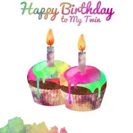 Happy Birthday To My Twin