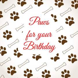 Paws For Your Birthday