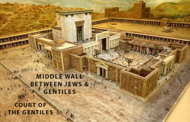 Temple Court of the Gentiles and wall