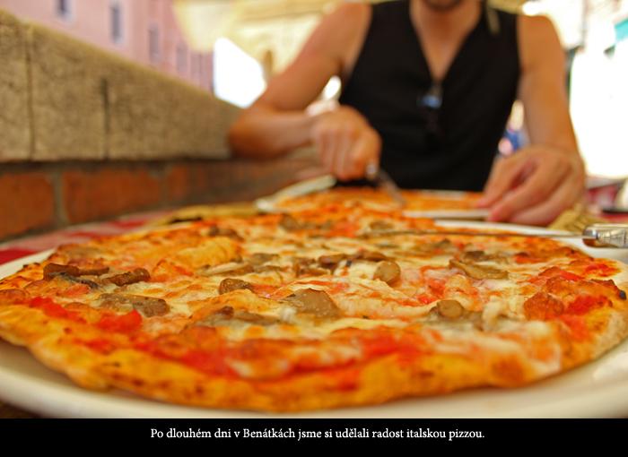 Výborná italská pizza v Benátkách