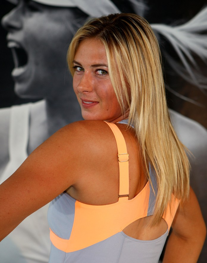 MELBOURNE, AUSTRALIA - JANUARY 12:  Maria Sharapova of Russia showcases her attire for the upcoming 2011 Australian Open at Crown Entertainment Complex on January 12, 2011 in Melbourne, Australia.  (Photo by Graham Denholm/Getty Images for Nike)