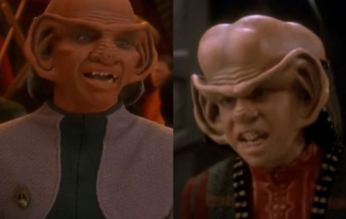 """Rom and Nog, Ferengi characters from """"Star Trek: Deep Space Nine"""""""