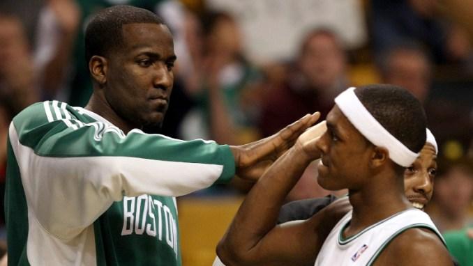 Rajon Rondo Kendrick Perkins Celtics