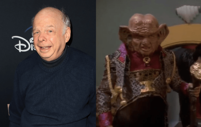 Wallace Shawn and his character Zek on