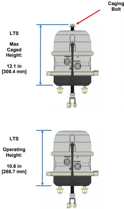 LTS Brake Actuator Dimensions
