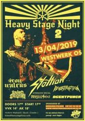 Konzertflyer Heavy Stage Night 2