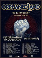 Tourposter Orphaned Land - We Do Not Resist Tour