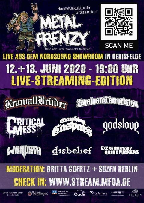Flyer Metal Frenzy Live-Streaming-Edition