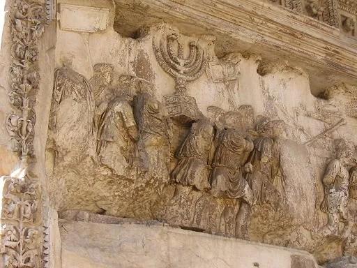 בני ישראל סוחבים את המנורה