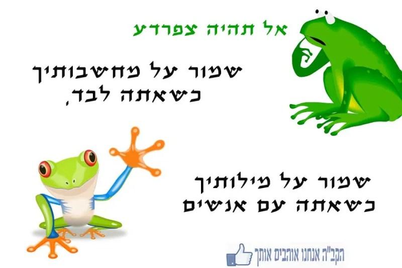 אל תהיה צפרדע
