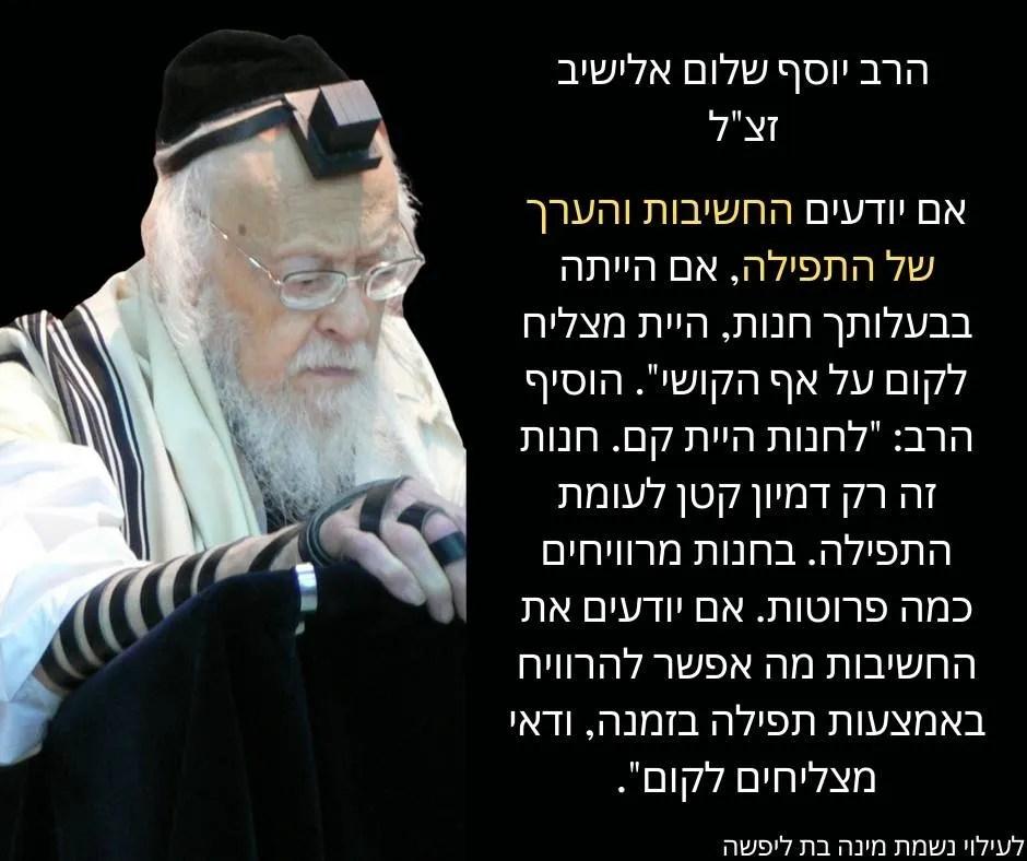 ציטוט של הרב יוסף שלום אלישיב