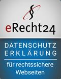 Datenschutzerklärung erstellt mit eRecht24