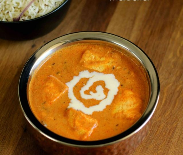 Paneer Butter Masala Recipe Paneer Makhani Butter Paneer Masala With Step By Step Photo And Video Recipe Basically This Exotic Paneer Curry Is Prepared