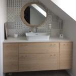 salle de bain sur mesure, contemporaine, meuble salle de bain, mobilier, meuble sous vasque, menuisier, agenceur, ébéniste, vannes, morbihan, aménagement intérieur, arzon