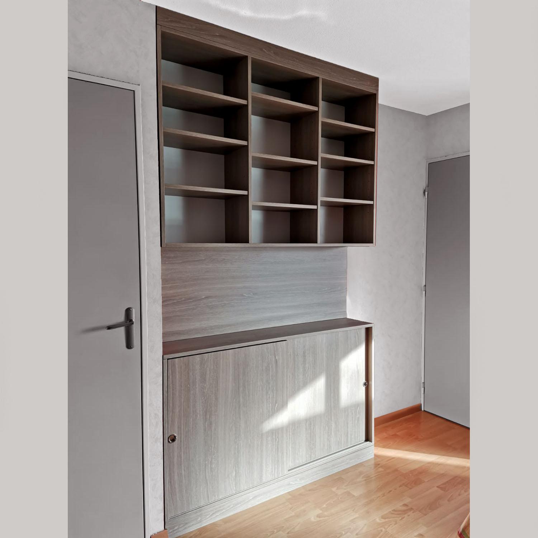 Bibliothèque sur mesure, aménagement sur mesure, Vannes, Ploeren, Morbihan, Menuisier, Agenceur, ploeren