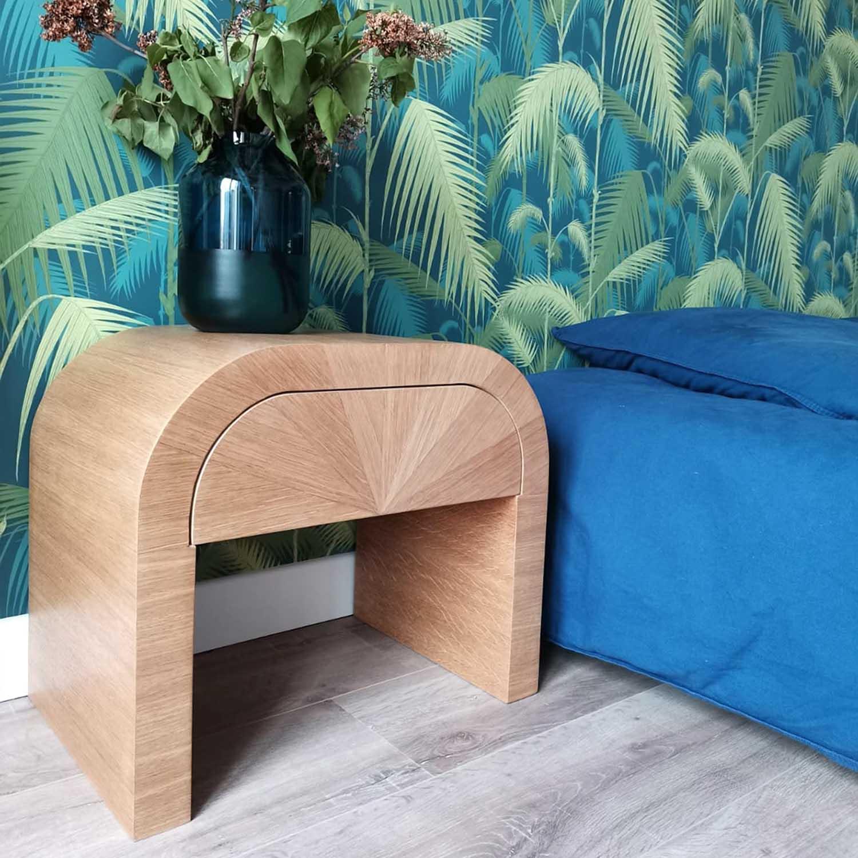 CHEVET DE CHAMBRE SUR MESURE, Menuisier, ébéniste, mobilier sur mesure, meuble sur mesure, Vannes, Morbihan, chambre design, chevet design