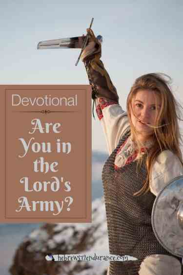 Are you in the Lord's army devotional