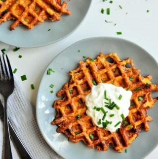 Sweet Potato Hashbrown Waffles