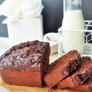 Whole Wheat Double Chocolate Chip Courgette Bread